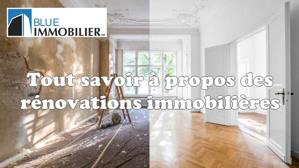 Rénovations immobilières